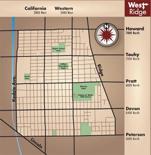 west ridge map