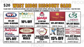 West Ridge Discount Card